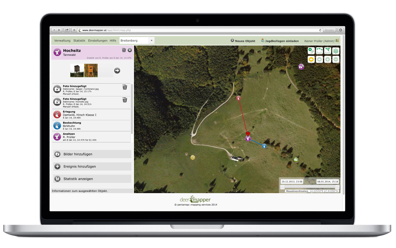 Deermapper Webapplikation